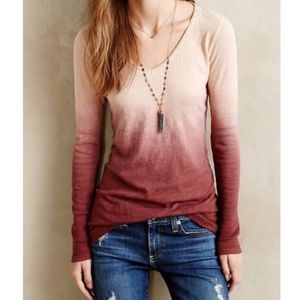 Pure + Good Anthropologie Ombré Top
